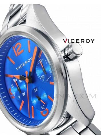 Reloj niño Viceroy cadena multifunciones esfera azul
