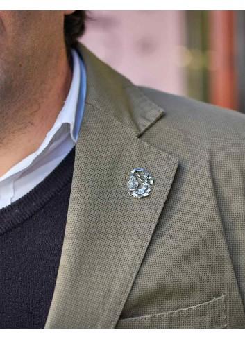 Pin Virgen de la Cabeza con ciervo metal