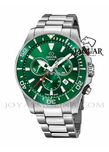 Reloj Jaguar hombre diver verde cronógrafo bisel J861-4