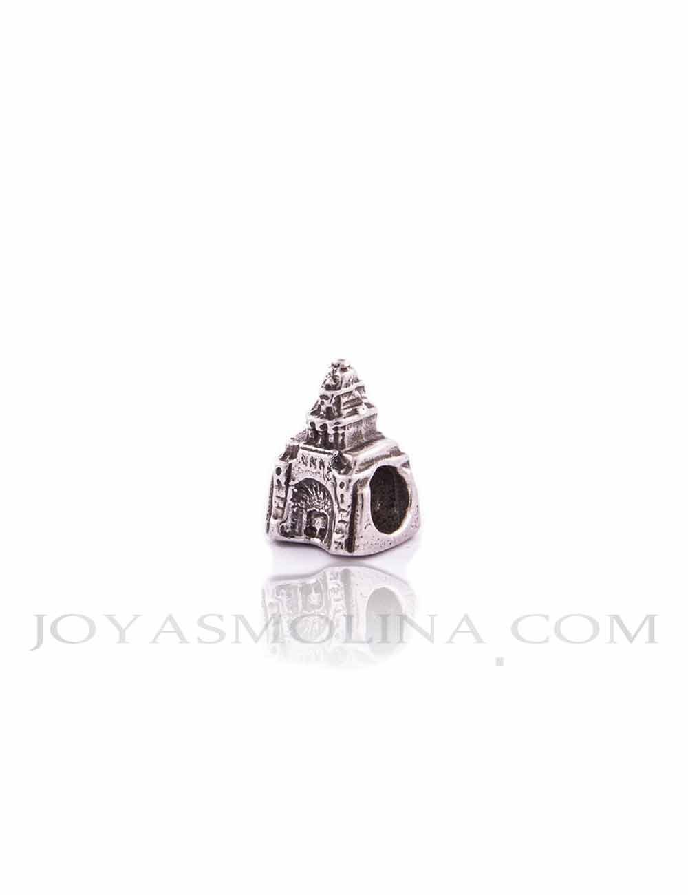 Abalorio ermita Virgen del Rocío plata