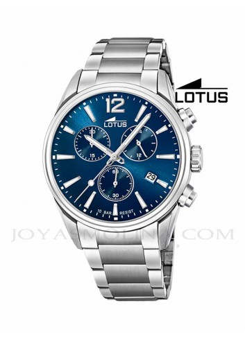 Reloj Lotus hombre cadena esfera azul 18690-1