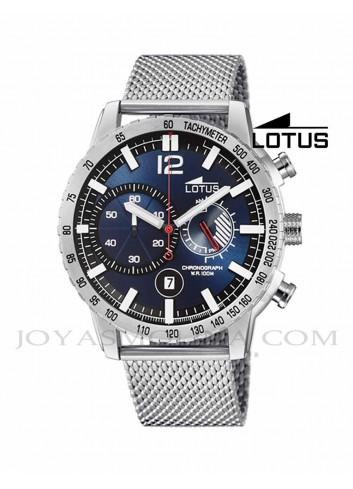 Reloj Lotus hombre cadena milanesa esfera azul 10137/2