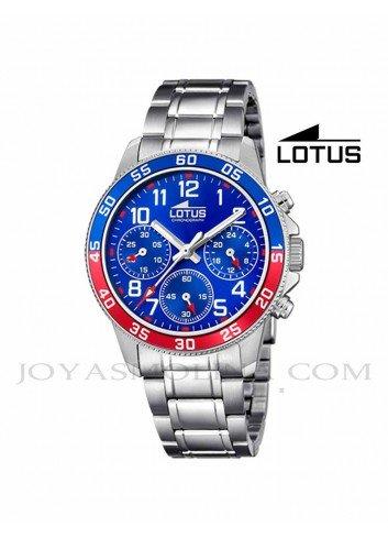 Reloj niño Lotus crono cadena esfera azul 18580-4