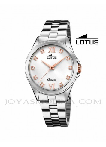Reloj Lotus mujer cadena esfera blanca 18739-2