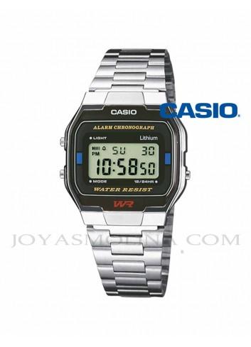 Reloj Casio digital plateado unisex A163WA-1QES