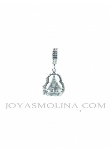 Abalorio con colgante Virgen de la Cabeza plata mediano