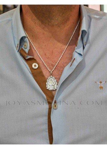 Medalla plata Virgen de la Cabeza triangular