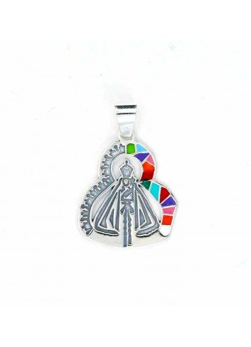 Medalla plata Virgen de la Cabeza cartel colores romería 23x33