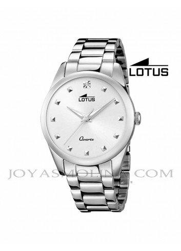 Reloj Lotus mujer cadena esfera blanca-plateado 18142/1