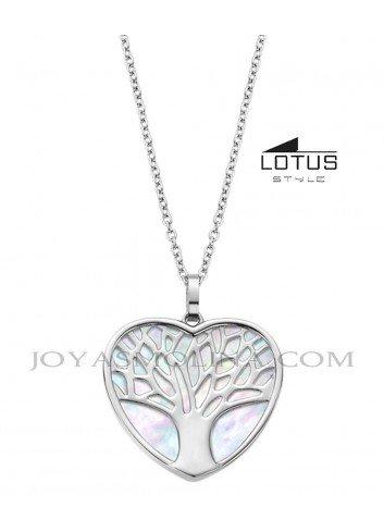 Colgante Lotus Style  árbol de la vida nácar corazón LS2022-1/1