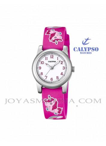 Reloj Calypso niña unicornio rosa K5713-B