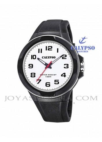 Reloj Calypso hombre goma negro con luz k5781-1