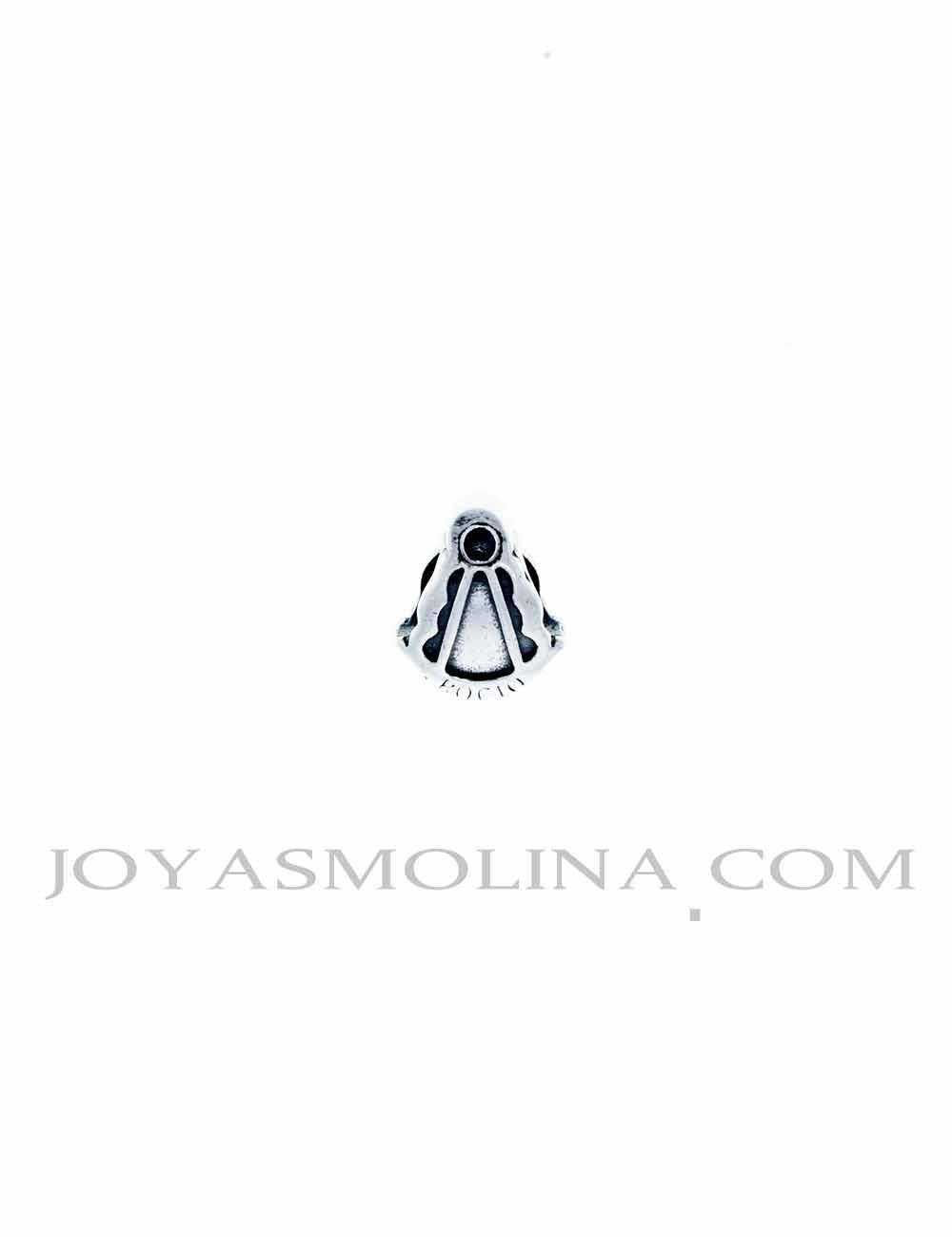 Abalorio Virgen del Rocío plata silueta