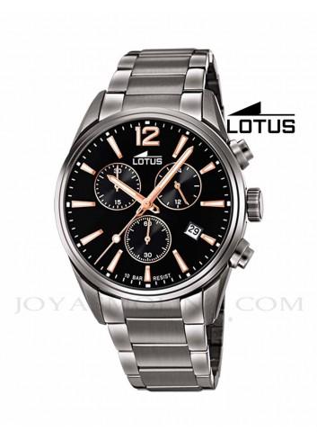 Reloj Lotus hombre negro cadena 18682-2