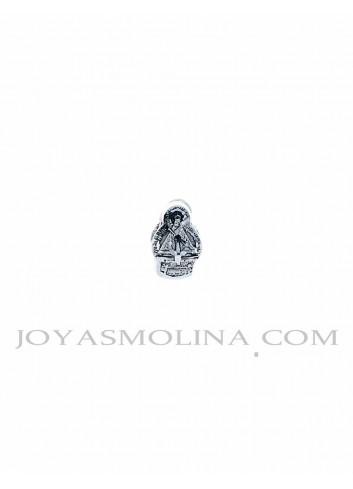 Abalorio Virgen de la Cabeza plata pequeño