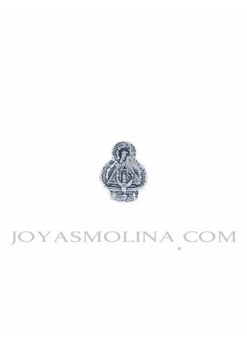 Abalorio Virgen de la Cabeza plata mediano
