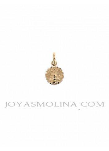 Medalla Virgen de la Cabeza oro redonda 9 mm