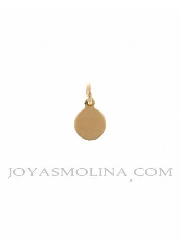Medalla Virgen de la Cabeza oro redonda  mini