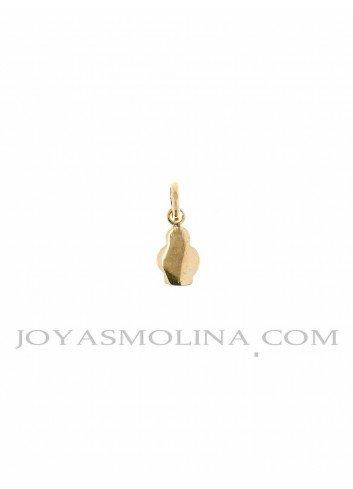 Medalla Virgen de la Cabeza oro silueta mini
