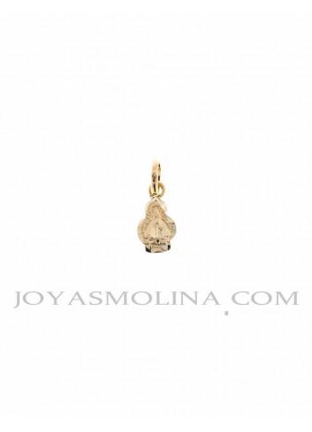 Medalla Virgen de la Cabeza oro silueta