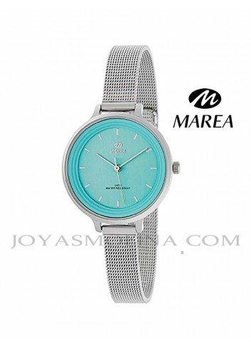 Reloj Marea mujer cadena malla B41198-3 esfera azul claro