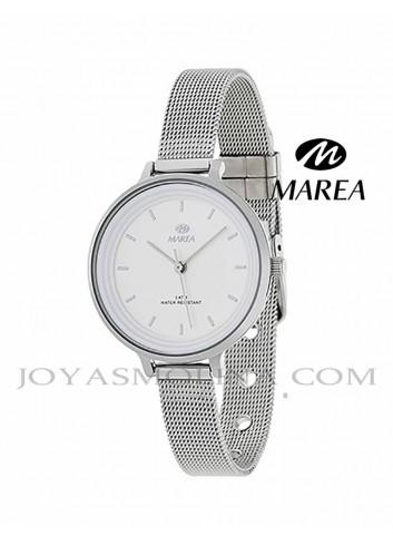 Reloj Marea mujer cadena malla B41198-1 esfera blanca