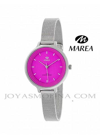 Reloj Marea mujer cadena malla B41198-5 esfera fucsia