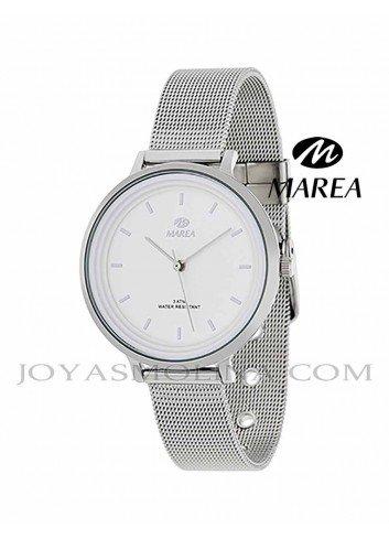 Reloj Marea mujer cadena malla B41197-1 esfera blanca
