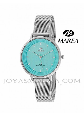 Reloj Marea mujer cadena malla B41197-3 esfera azul claro