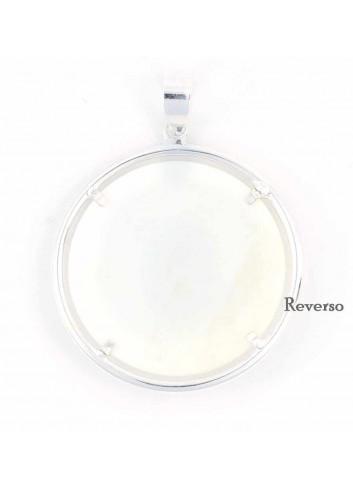 Medalla Virgen Cabeza plata nácar 41mm