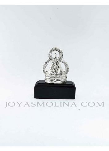 Figura Virgen de la Cabeza resina plateada