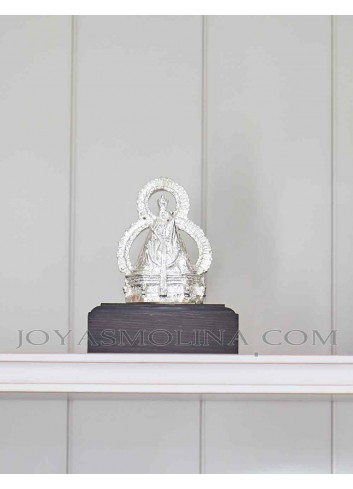 Figura Virgen de la Cabeza plateada