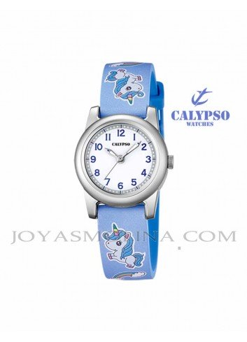 Reloj Calypso niña unicornio azul