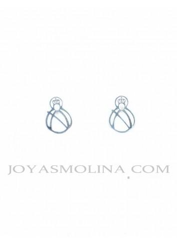 Pendientes Virgen de la Cabeza plata calada