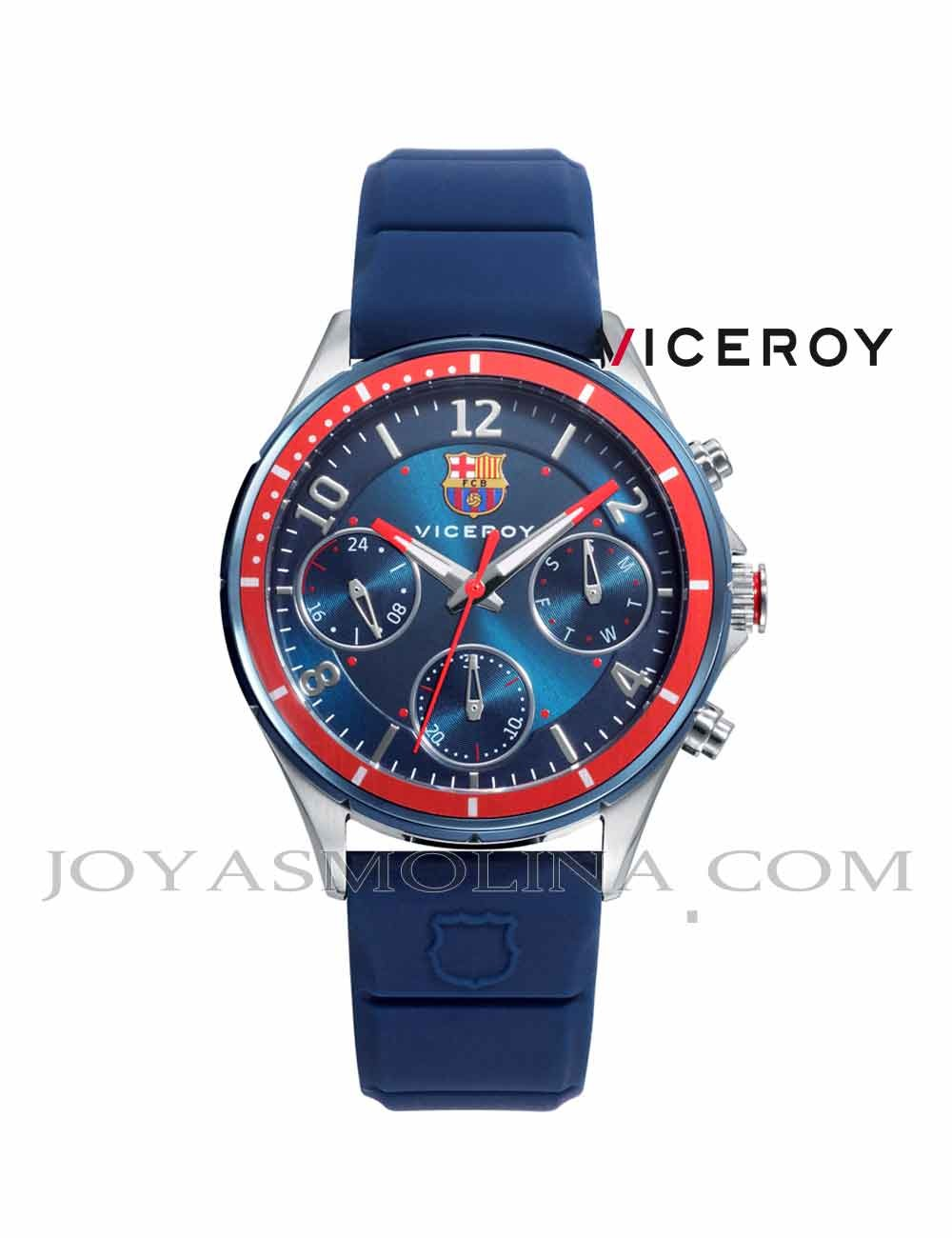 Reloj Barcelona niño correa y esfera azulgrana
