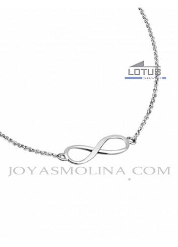 Gargantilla infinito de plata Lotus Silver mujer