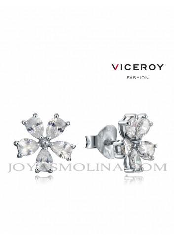 Pendientes Viceroy Jewels flor con circonitas mujer