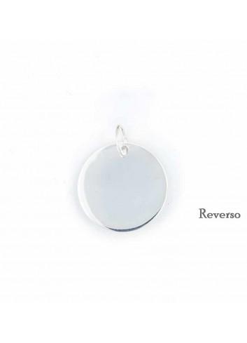 Medalla Virgen Cabeza plata redonda 21 mm