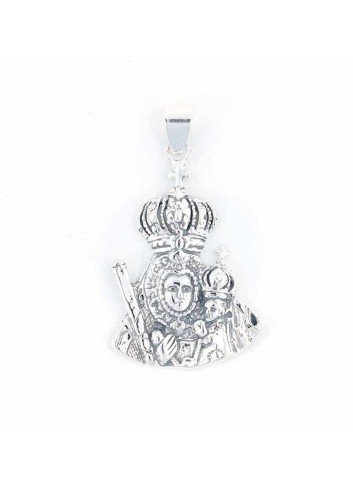 Medalla Virgen Cabeza plata medio cuerpo 2,5x4,1