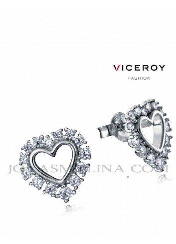 Pendientes Viceroy Jewels corazón con circonitas