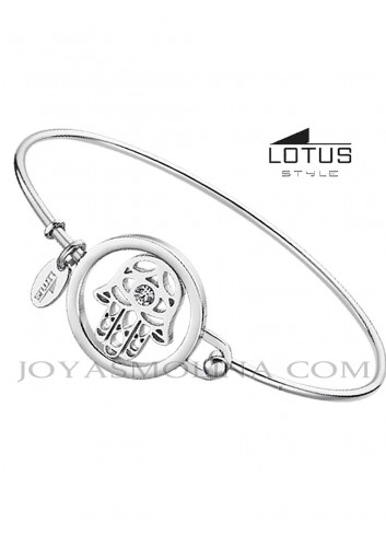 Brazalete acero Lotus Style mano de Fátima