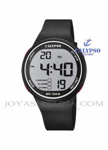 Reloj niño Calypso digital goma negro