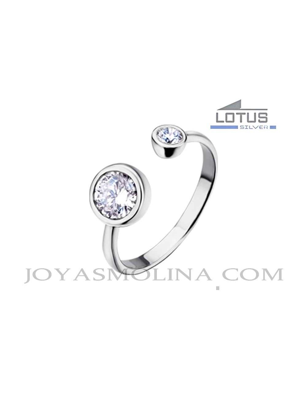 Anillo Lotus Silver ajustable plata circonitas