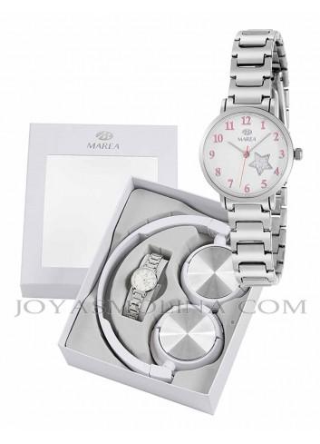 Reloj Marea niña cadena metálica estrella con regalo