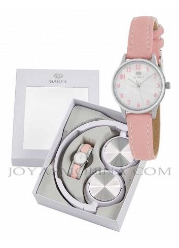 Reloj Marea niña correa rosa con regalo