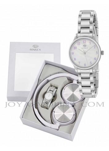 Reloj Marea niña cadena metálica con regalo