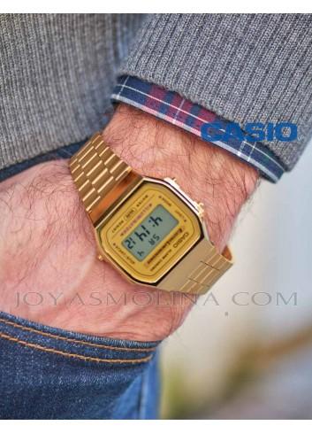 Reloj casio dorado hombre moda