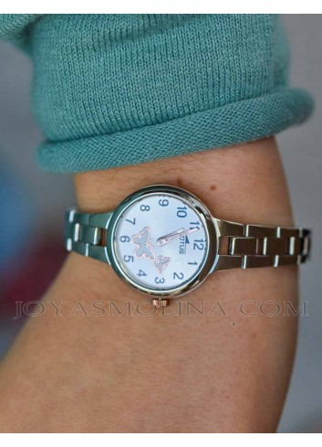 Reloj niña comunion cadena con regalo
