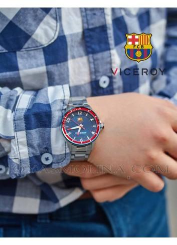 Reloj oficial del Barcelona con cadena metalica
