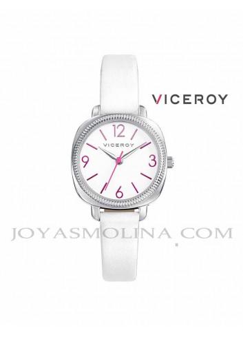 Reloj niña Viceroy correa blanco y rosa